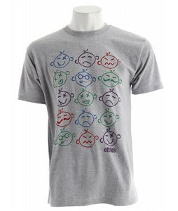 Etnies Face Time T-Shirt Grey/Heather