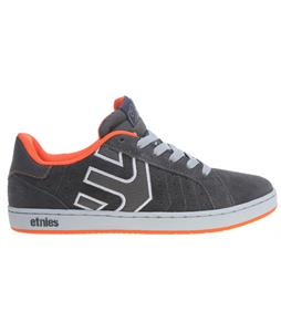 Etnies Fader LS Skate Shoes Grey/Orange