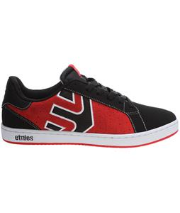Etnies Fader LS Skate Shoes Black/Red/White