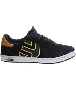 Etnies Fader LS Skate Shoes Navy/Yellow