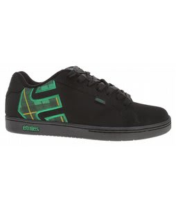 Etnies Fader Scruffy Wallace Skate Shoes Black/Green