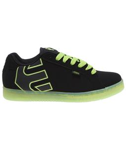 Etnies Fader Skate Shoes Black/White/Green