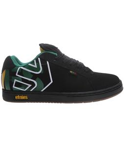 Etnies Fader Skate Shoes Black/Green/Gold