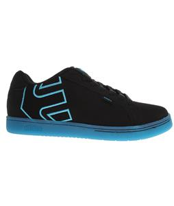 Etnies Fader Skate Shoes Black/Black/Blue