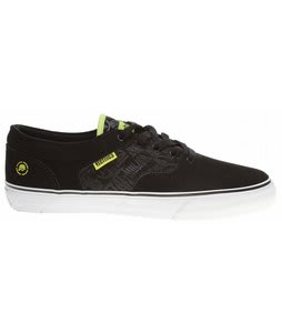 Etnies Metal Mulisha Fairfax Skate Shoes Black/Lime