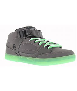Etnies Number Mid Bike Shoes Grey/Lime/White