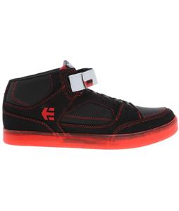 Etnies Number Mid Skate Shoes Black/Red