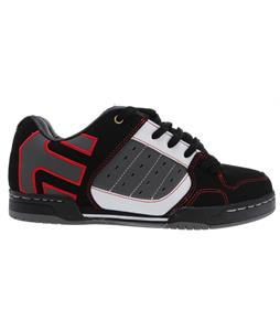 Etnies Piston LX Skate Shoes Black/White/Red