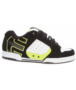 Etnies Piston Skate Shoes Black/White/Green