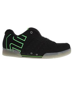 Etnies Piston Skate Shoes Black/Green