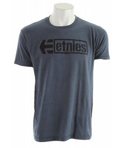 Etnies Stencil Box Tonal T-Shirt Blue Heather