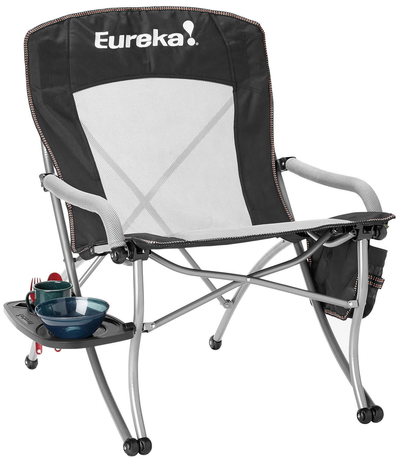 Eureka Curvy Chair W Side Table Camp Chair