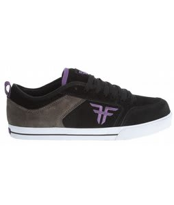 Fallen Clipper SE Skate Shoes Black/Charcoal/Purple