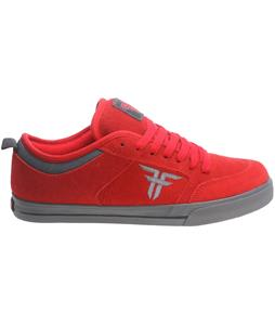 Fallen Clipper Se Skate Shoes Blood Red/Pewter Grey