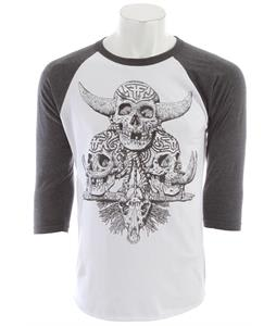 Fallen Dayak Raglan White/Heather Charcoal