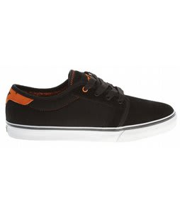 Fallen Forte Skate Shoes Black/Orange/Fury