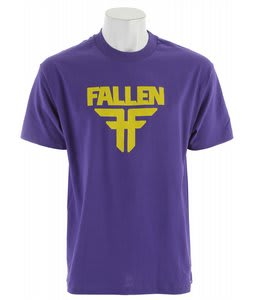 Fallen Insignia T-Shirt Purple/Yellow