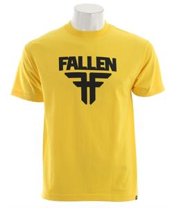 Fallen Insignia T-Shirt Yellow/Midnight Blue