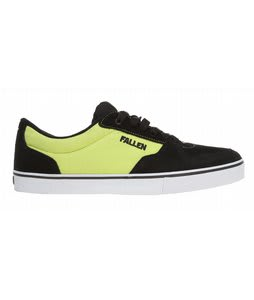 Fallen Mission Skate Shoes Black/Lime