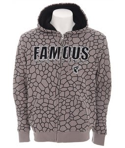 Famous Stars Black Widow Hoodie Grey