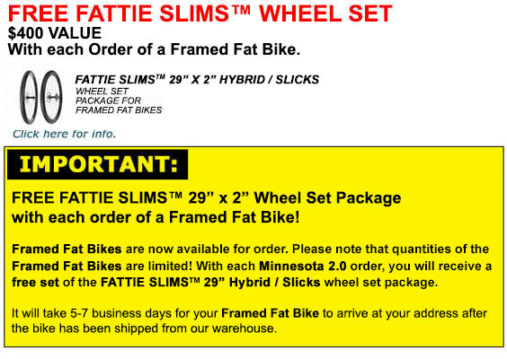 Free Wheel Set with Fat Bike Pre Order