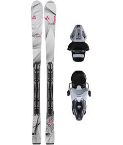 Fischer Aspire Skis w/ Rs10 Bindings White/Black