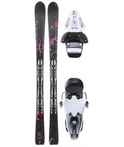Fischer Aspire Black Fp9 Skis w/ RS 10 Bindings White/Black