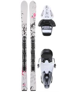 Fischer Aspire White Fp9 Skis w/ RS 10 Bindings White/Black
