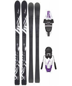 Fischer Exhale RF Skis w/ V9 RF My Style Bindings White/Violet