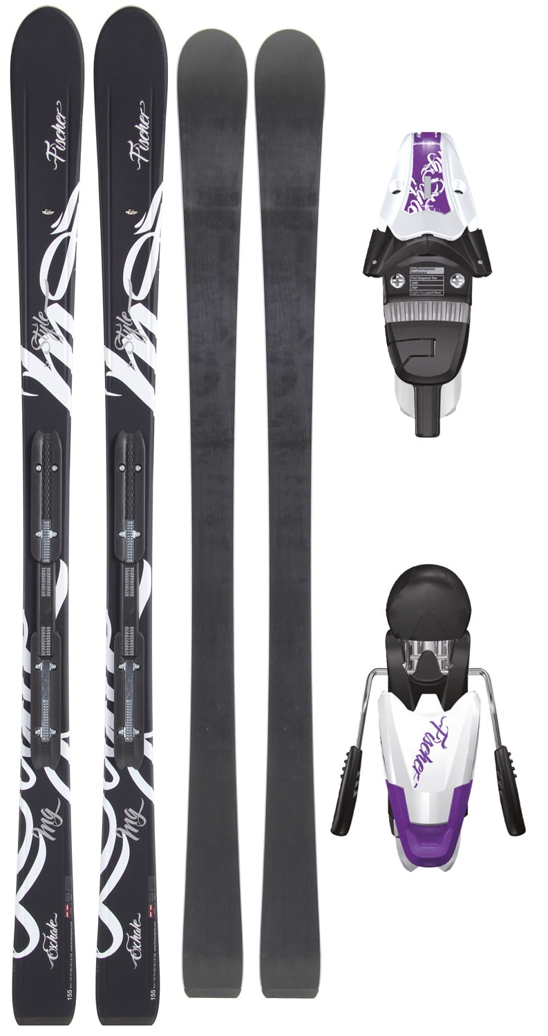 Shop for Fischer Exhale RF Skis w/ V9 RF My Style Bindings White/Violet - Women's