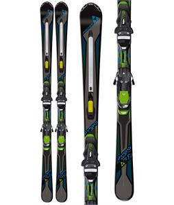 Fischer Hybrid 7.0 Powerrail Skis w/ Rsx 12 Powerrail Bindings Green/Black