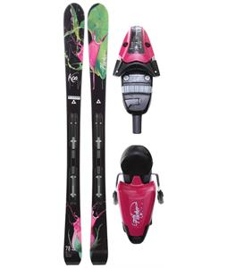 Fischer Koa 78 RF My Style Skis w/ V9 RF My Style Bindings Purple/Black