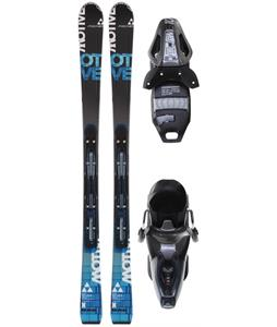 Fischer Motive X Powerrail Skis w/ RS 10 Powerrail Bindings Anthracite/Smoke