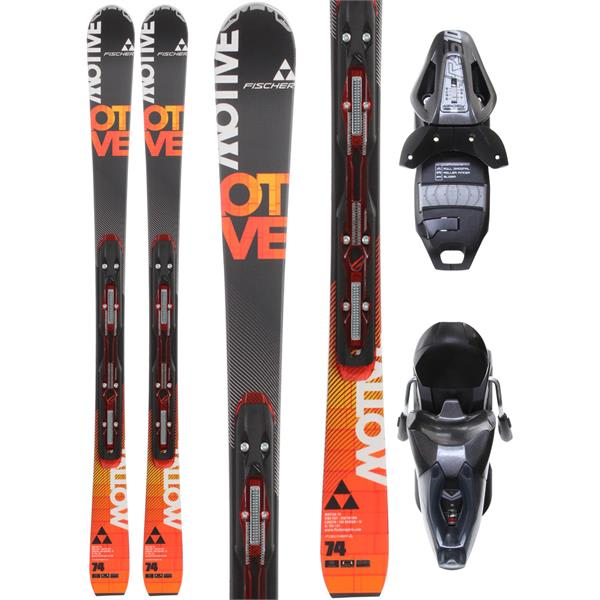 Fischer Motive 74 Powerrail Skis w/ RS 10 Powerrail Bindings