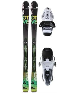 Fischer Motive 76 Powerrail Skis w/ RS 11 Powerrail Bindings Matte Black/White