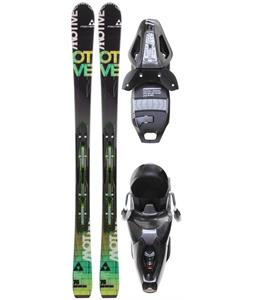Fischer Motive 76 Powerrail Skis w/ RS 11 Powerrail Bindings Anthracite/Smoke