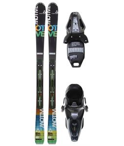Fischer Motive 80 Skis w/ Rsx 10 Bindings Anthracite/Smoke
