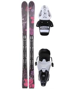 Fischer Mystique Skis w/ FP9 Bindings Black/White