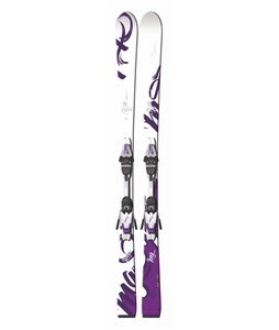 Fischer Pure RF Skis w/ V9 RF My Style Bindings White/Violet