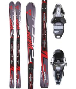 Fischer Viron 2.2 Powerrail Skis w/ RS 10 Powerrail Bindings Anthracite/Smoke