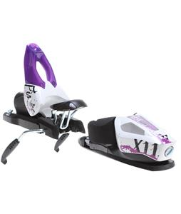 Fischer X 11 Wide Ski Bindings White/Purple 90mm