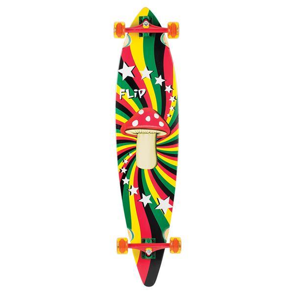 Flip Rasta Shroom Pinner Tail Longboard Complete