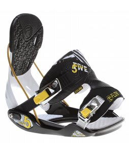 Flow Five Snowboard Bindings Black/White