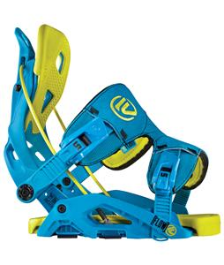 Flow Fuse Snowboard Bindings Blue/Lime
