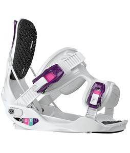 Flow Gem Snowboard Bindings White