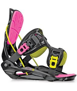 Flow Haylo Snowboard Bindings Black Neon