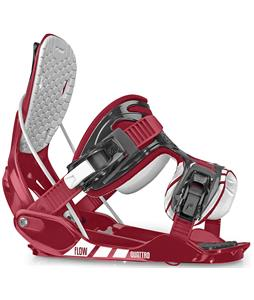 Flow Quattro Snowboard Bindings Burgundy