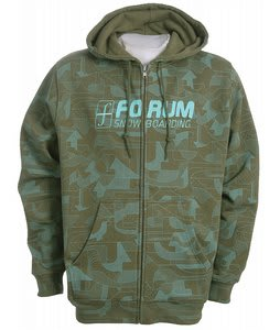 Forum Snowpark Zip Hoodie Olive Snow Park