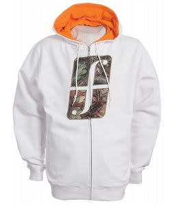 Forum Woodland Icon Full Zip Hoodie White