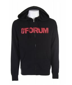 Forum Wordmark Full Zip Hoodie Black